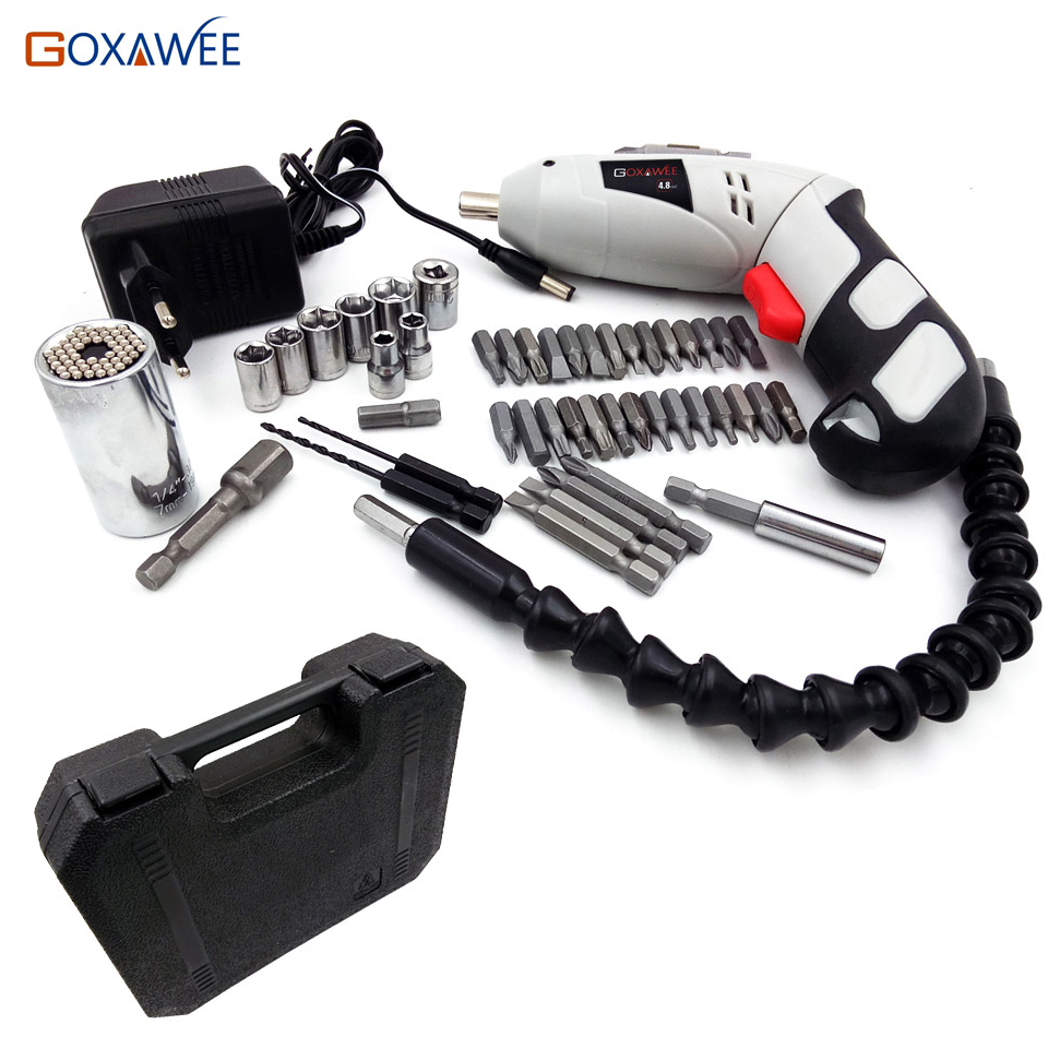 4.8V Mini Electric Screwdriver Drill Rechargeable Cordless Screwdrivers Lithium Battery Household DIY Tools Sets rechargeable electric screwdriver electric screwdriver electric screwdriver screwdriver batch household electric mini hand drill
