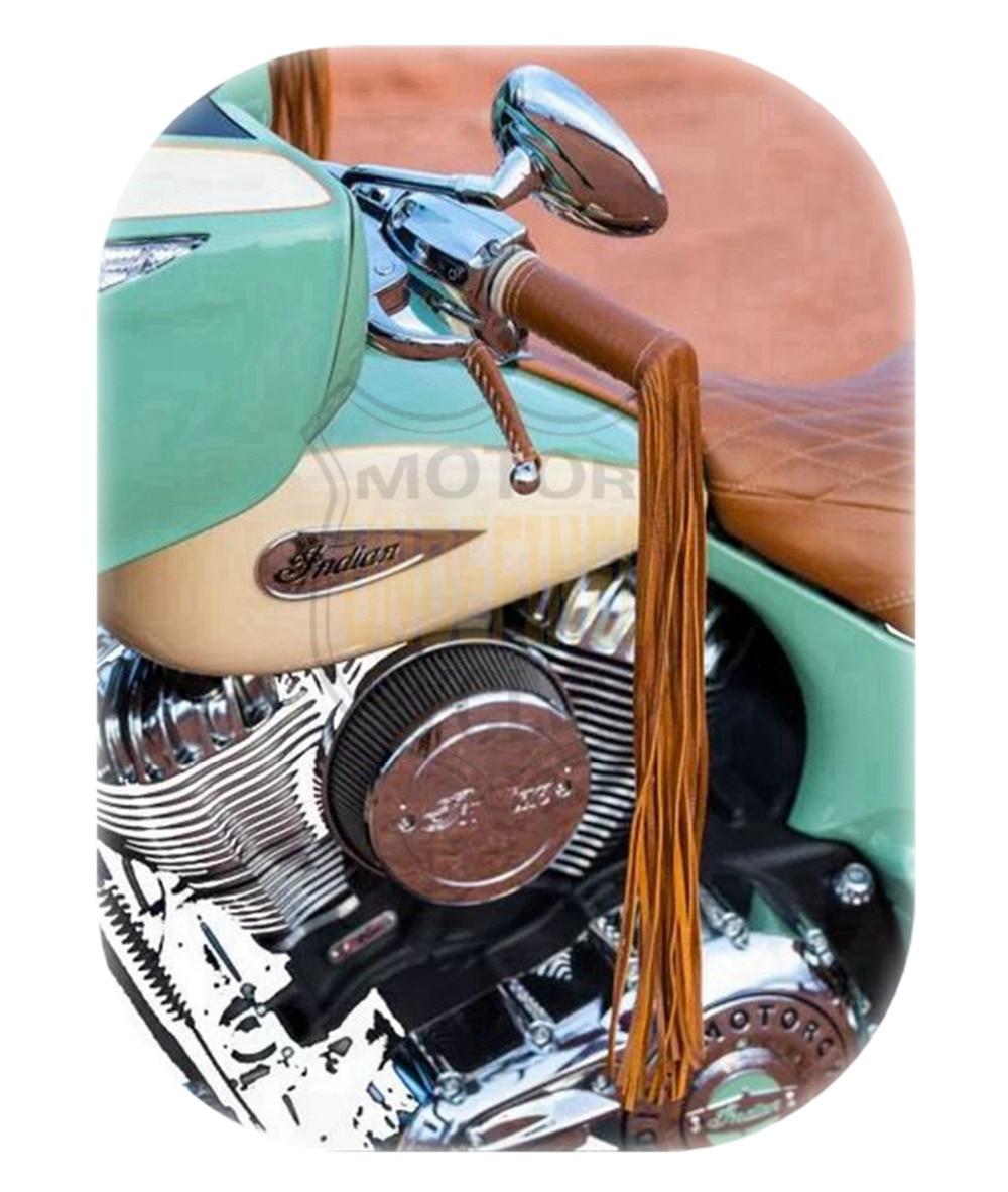 Универсальные мотоциклетные ручки с бахромой, кожаный руль, ручные ручки с кисточками, рычаг тормоза, чехол для Harley Cruiser Chopper, на заказ