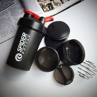 5 Colors Protein Shaker Blender Mixer Sports Fitness Gym 3 Layers Multifunction BPA Free Shaker Bottle
