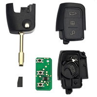 Neverland 433MHz 4D60 Chip Entry Fob Remote 3 Button Car Key Shell For FORD Mondeo Focus