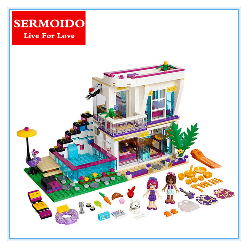SERMOIDO 01046 GIRL SERIES Classic villa house Set Educational Building Blocks Bricks Toys Compatible With 41135 GIRL Toy sermoido 02012 774pcs city series deep sea exploration vessel children educational building blocks bricks toys model gift 60095