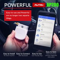 Autel AP200 Bluetooth OBD2 Scanner Code Reader with Full Systems Diagnoses AutoVIN TPMS IMMO Service Family DIYers PK EasyDiag