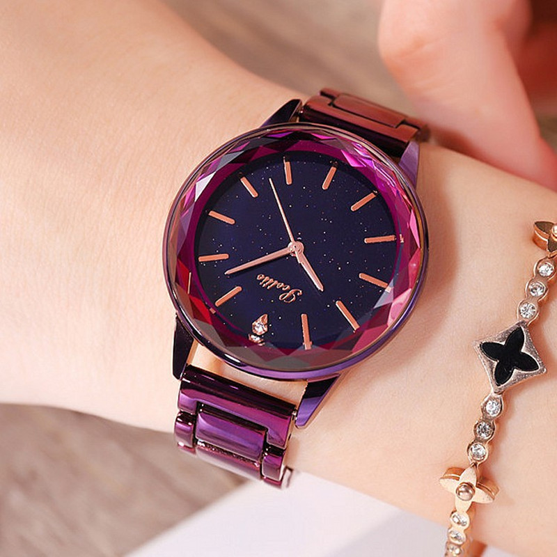 Super Beauty Starry Dial Diamond Women Watches Fashion Blue Lady Casual Quartz Watch Women Stainless Steel Dress Watch Clock New все цены