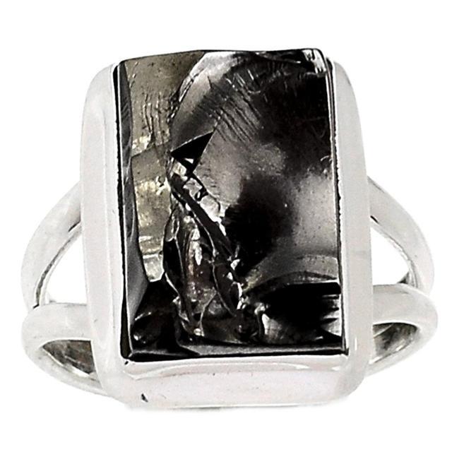 Lovegem Shungite Ring 925 Sterling Silver,Size :8.75, AR1678