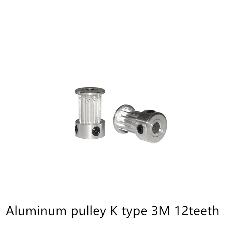 K type 12 teeth 3M Timing Pulley Bore 6mm 6.35mm for HTD belt used in linear  pulley 12Teeth 12TK type 12 teeth 3M Timing Pulley Bore 6mm 6.35mm for HTD belt used in linear  pulley 12Teeth 12T