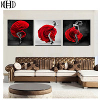MHD Set Of 3 Actresses Dance Rose Icon 5D Diamond Embroidery Diamond Drill Round DIY Home