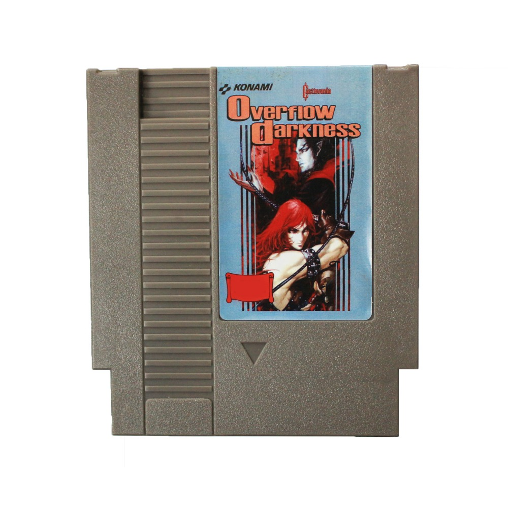 Castlevania Overflow Darkness 72 Pins cartridge 8 Bit Game Card Free Shipping image