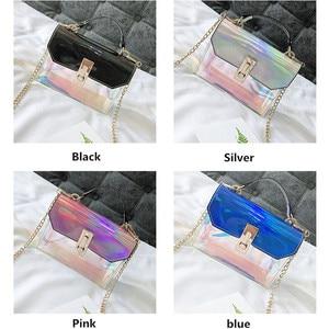 Image 4 - Sacs à main de mode sac Messenger sac à main en PVC sac à bandoulière design boucle sac à bandoulière laser