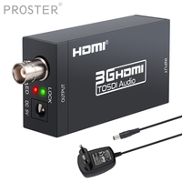 PROSTER HDMI to SDI Converter Audio Video Converter HD SDI/3G SDI Adapter Support 1080P for Home Theater