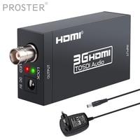 PROSTER HDMI to SDI Converter Audio Video Converter HD SDI/3G SDI Adapter Support 1080P for Home Theater