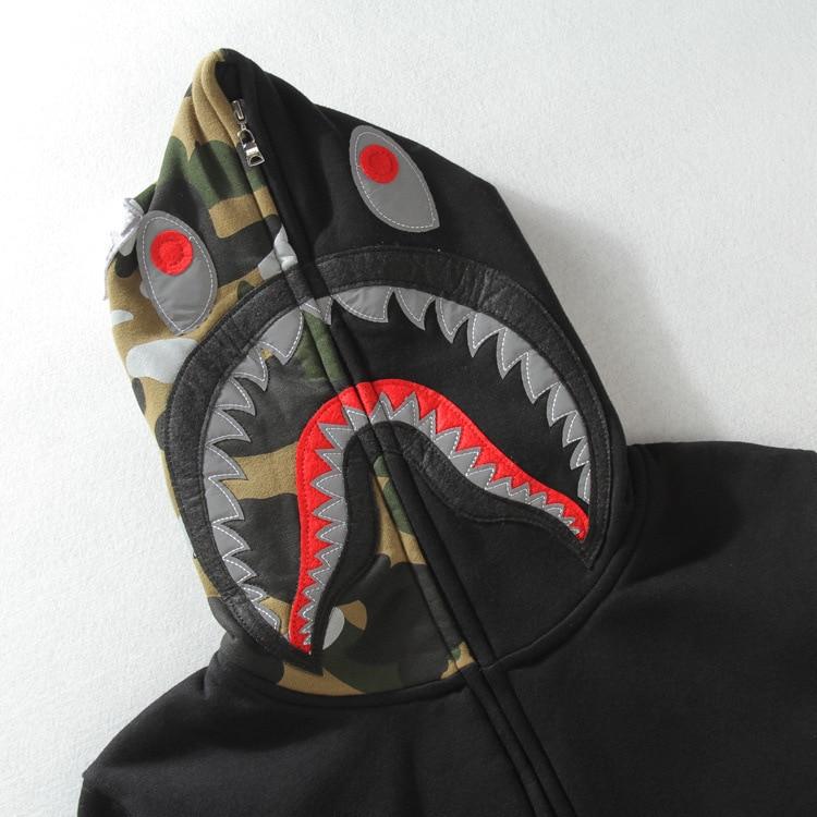 7186528cd6a5 Bape shark hoodie fashion camouflage hip hop sweatshirts mens element  skateboard sudaderas fleece hoodies men polerones hombre-in Hoodies    Sweatshirts from ...