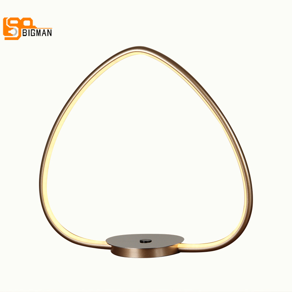 New item LED table light modern table lamps AC110V 220V aluminum bedroom beside lights wideth 40cm