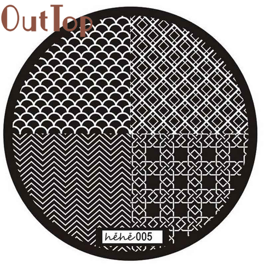 Useful 2017 Nail Art Image Stamp Stamping Plates Manicure Template Pattern 005 Jal3 An Indispensable Sovereign Remedy For Home Nails Art & Tools
