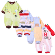 2017 Newborn Baby boy Winter Clothes 100% Cotton Long Sleeve Baby Rompers Soft Infant  Baby girl Clothing Set Jumpsuits
