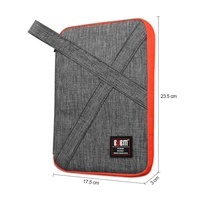 BUBM Multifuntional Double Layer Travel Gear Flash Drives   Bag   Electronics Accessories USB Cable Storage   Bags