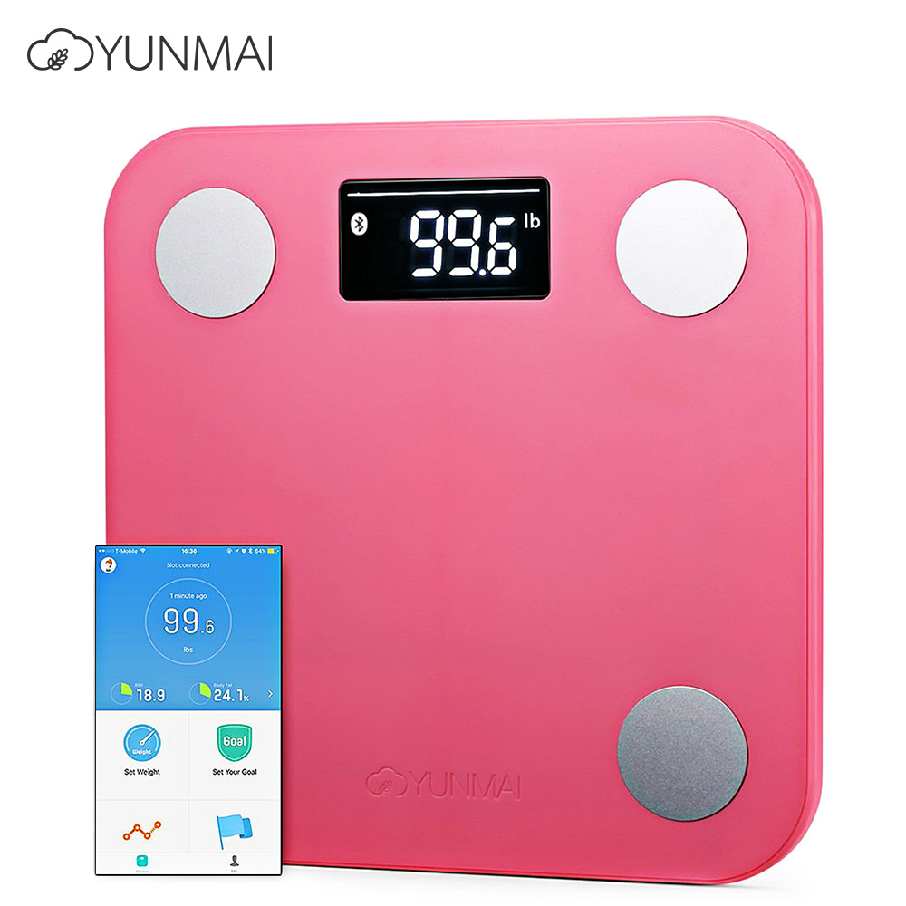 YUNMAI Mini 1501 Digital Weight Scale Monitor Smart Fat Scales Bluetooth 4.0 APP Control BMI Data Analysis Weighing Tool baby kids adult smart body fat intelligent weight scale electronic lcd digital app control analysis weight scale weighing tool