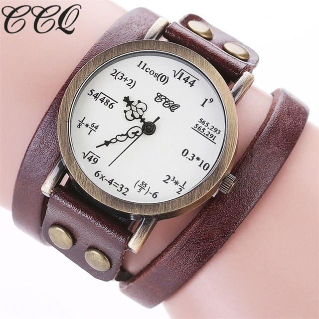 CCQ NEW Brand Relogio Feminino Woman Saat Fashion Simple Figures Casual Analog Q