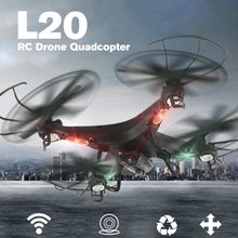 HOT High Qaulity Helicopter LiDiRC L20 2.4G 4CH 6-axis HD Camera WiFi 5.8G Real-Time FPV Gyro 3D-flip RC Quadcopter Drone