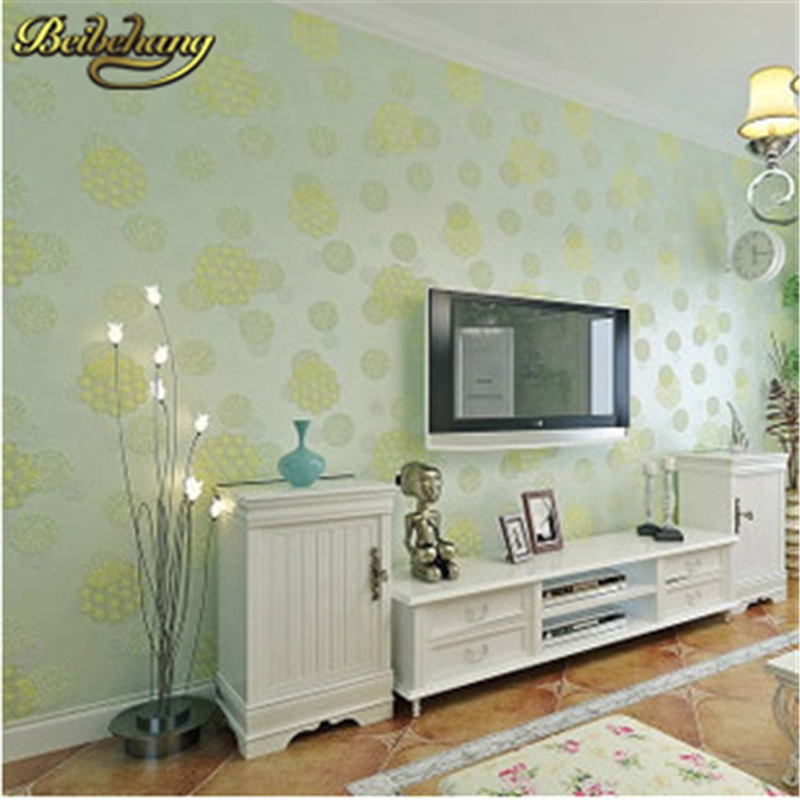 beibehang papel parede Romantic Wedding House Decor 3D Dandelion Wallpaper Eco Flower Wallpapers Mural Wall Paper contact paper beibehang papel parede 3d romantic dandelion wedding decorative wallpaper non woven floral 3d wallpapers mural wall paper roll
