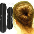 4 pcs/ lot Black Women's Magic Foam Sponge Hairdisk Hair Device Donut Quick Messy Bun Updo Headwear