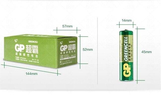 12 шт. оптовая продажа GP greencell AA Батарея 1.5 В 3500 мАч 15 г R6P Батареи Бесплатная доставка