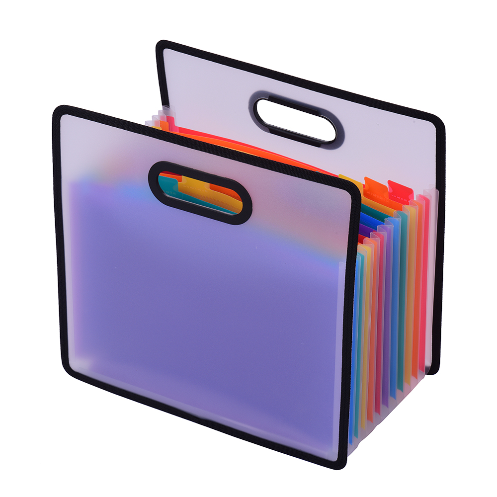 File Folder A4 & 12 Pockets Accordian Expanding Rainbow Coloured Portable Receipt Organizer With File Guide And Label Cards