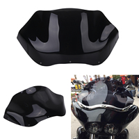 Black 13 Tempered Flare Windshield Motorcycle Wind Deflectors Windscreen For Harley Road Glide FLTR FLTRX FLTRU