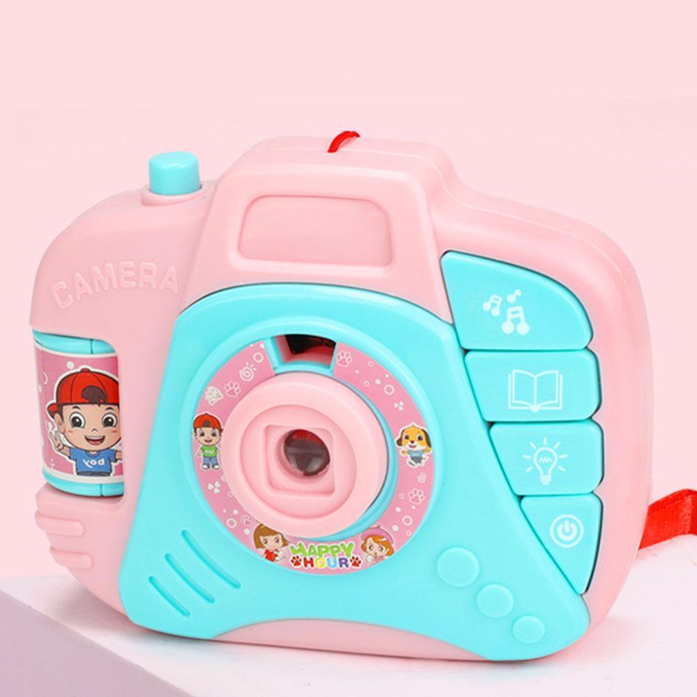 Проекционная камера история машина камера игрушка многоцветный электрический пластик музыка обучающая игрушка хобби исследование мульти-функциональный дети - Цвет: pibk