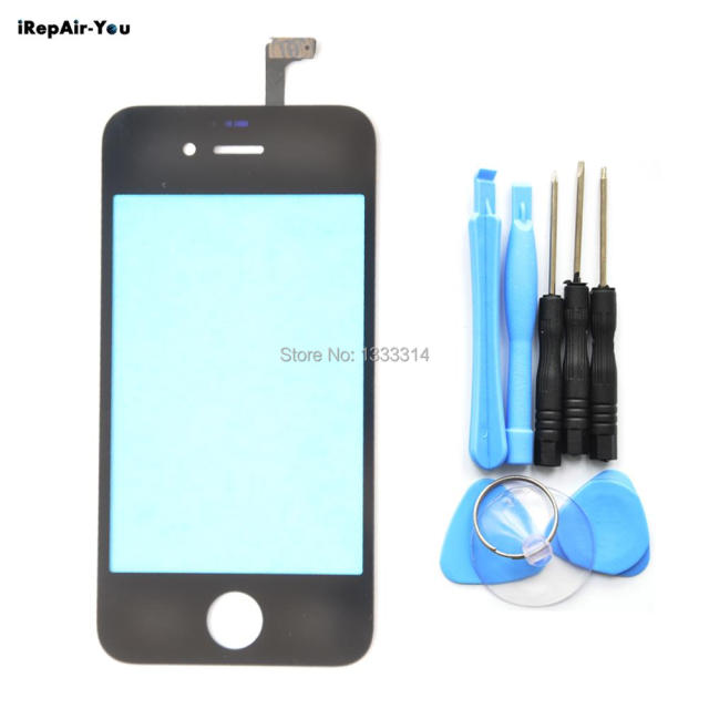 1XScreen Front Glass Digitizer for iPhone 6&6 plus 5S 5 4 4s Touch Screen Outer Panel Replacement(No have LCD)+Tools