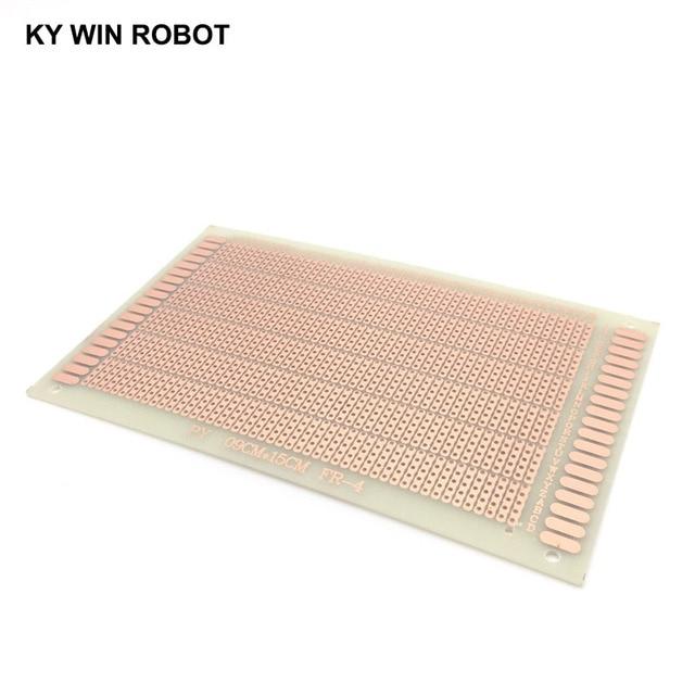 1 stücke 9x15 cm DIY Prototype Papier PCB Universal Board Experimentelle Bakelit Kupfer Platte Fünf Verbunden Löcher Circuirt board Weiß