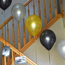 Golden balloon 50pcs/lot12 inch 3.2g pearl latex silver air ballon inflatable wedding baby party balloons decoration supplies