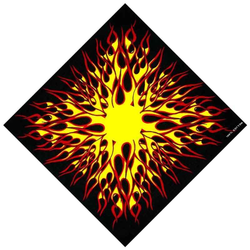 日本の原宿バイカー炎火災プリント保護マルチユースシームレス正方形スカーフバイクヒップホップヘッドバンドバンダナネクタイ