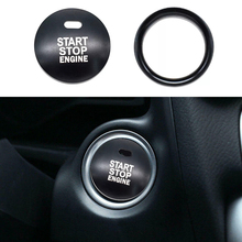 2pcs/set Car Engine Start Stop Button Cover Trim Ring high quality black Aluminum alloy molding For Mazda 3 Axela CX-3 CX-4 CX-5