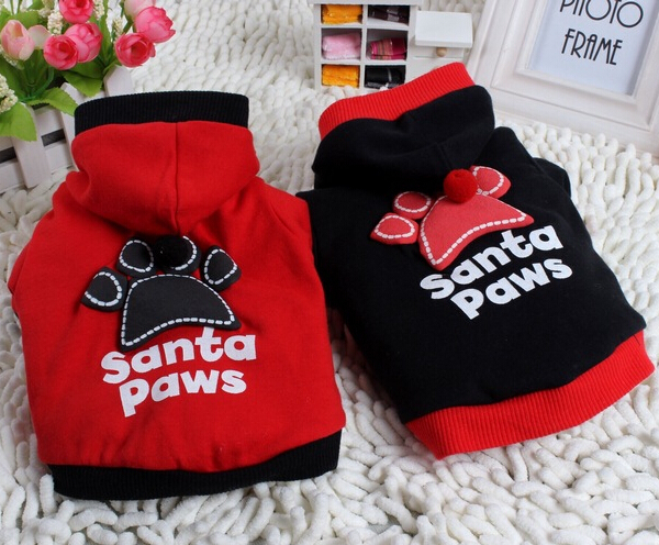 10pcs dogs cats Christmas costume doggy autumn winter hoodies puppy sweatershirts clothes pet dog apparel pets products suit