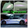 20CM *152CM Car change color film Car film White Pearl Purple Vinyl Wrap With Air Bubble Free PearlescentBright white car film