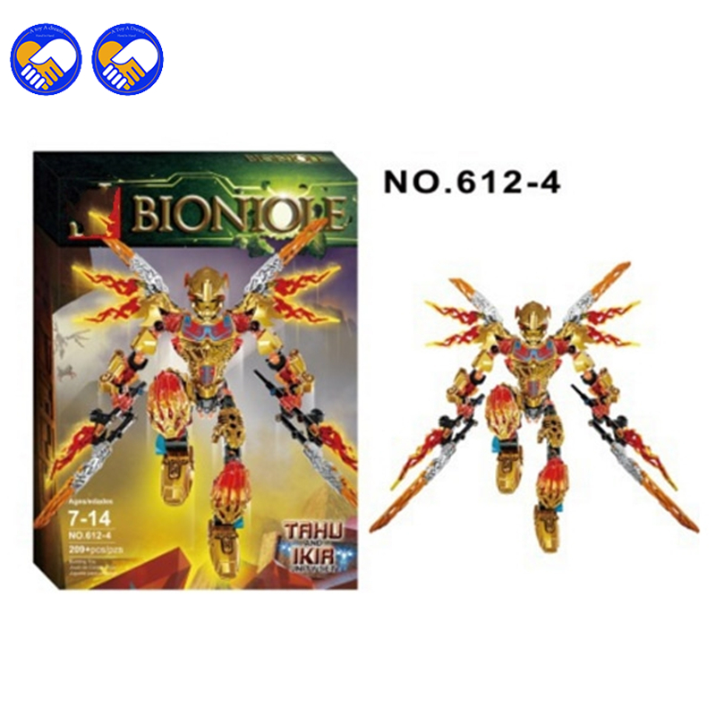 A toy A dream XSZ 612-4 Biochemical Warrior BionicleMask of Light Bionicle Tahu Ikir Bricks Building Block Best Toys Legoingly