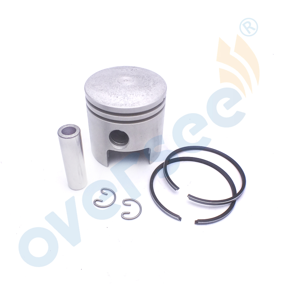 PISTON KIT RING SET ASSY 677-11631 677-11630 fit Yamaha Outboard 5HP - 8HP 50MM