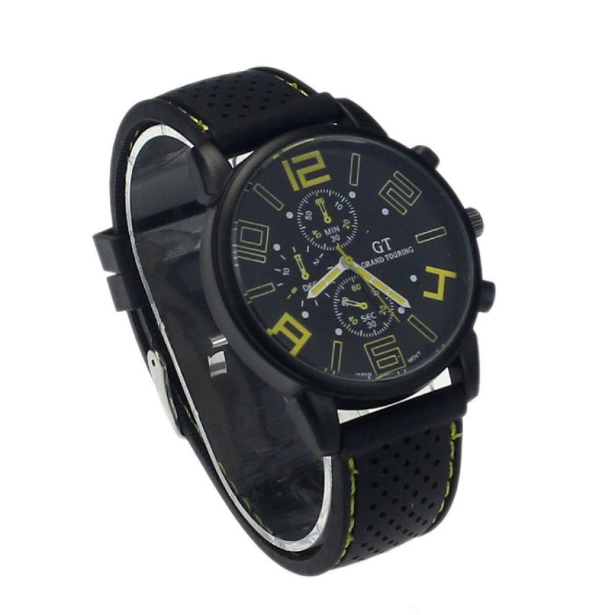 a8aab040d2f 2017 Chegada Nova Luxo Marca Aço Inoxidável Homens Sports Relógios  Analógicos Quartz relógios de Pulso pulseira de borracha relogio masculino