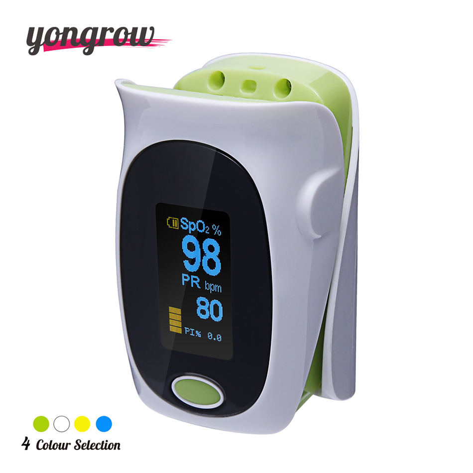 yongrow New Upgrade Finger Pulse Oximeter Portable Fingertip Pulse Oximeter Pulsoximeter SPO2 PR PI Auto rotate