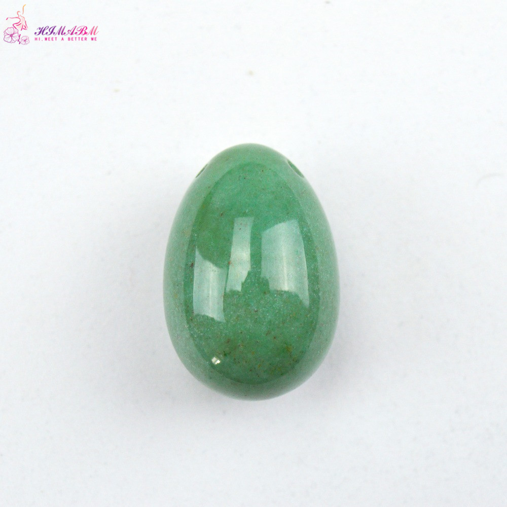 HIMABM 40*30mm Natural Green Aventurine jade egg for kegel exercise pelvic floor muscles vaginal exercise yoni egg ben wa ball jade egg natural unakite yoni egg crystal sphere for kegel exercise pelvic floor muscle vaginal exercise ben wa ball