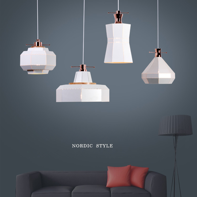 Postmodern simple design LED single head pendant lamp Nordic iron creative hollow industrial wind black home decor E27 lighting