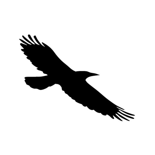 Crow Raven Birds Vinyl Sticker Decal For Car SUV Truck Window - Window decals for bird protection