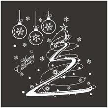Рождественские декоративные наклейки на окна, домашний декор, рождественские обои