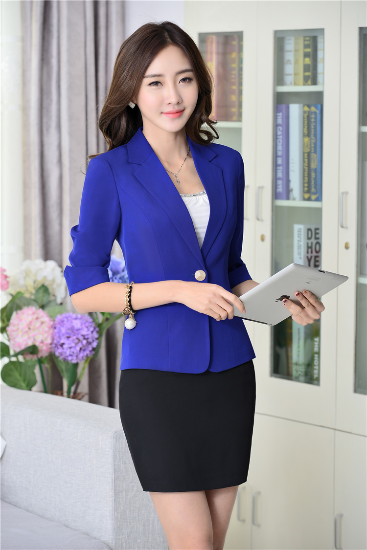 Hot Sale 2015 Ladies Skirt Suits Formal Uniform Skirt with a ...