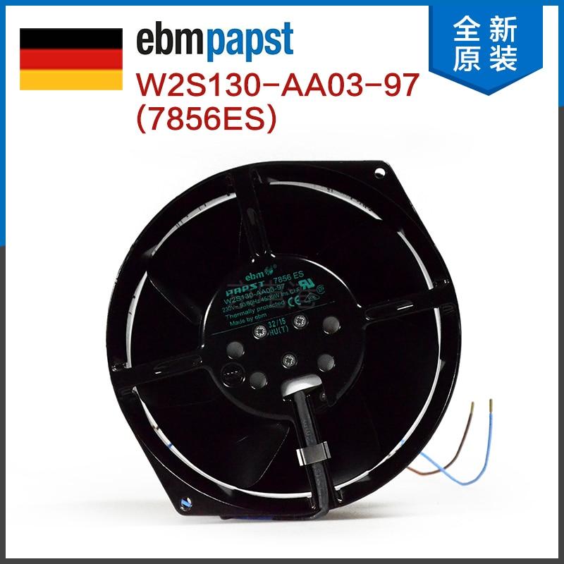 Original Authentic German Ebmpapst Fan W2S130-AA03-97 7856ES All Metal Cooling Fan