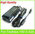 65W 19V 3.42A AC power adapter supply for Toshiba Satellite R940 U40 U800W U840W U845 U900 U940 U945 Tecra M8 R700 Z40 charger