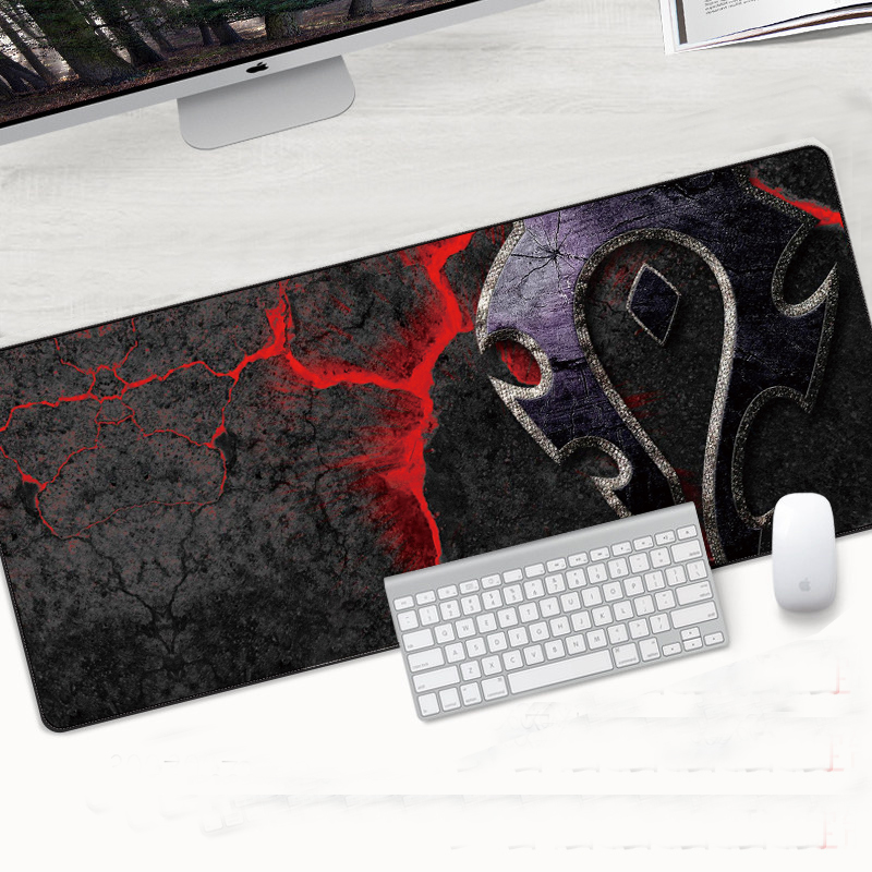 Gaming Mouse pad Speed Locking Edge Large Natural Rubber Waterproof Game Desk Mousepad Mat for Dota LOL Gaming World of Warcraft in Mouse Pads from Computer Office