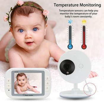 babykam baby monitor with camera 3.5 inch IR Night Vision Temperature Sensor Lullabies intercom baby monitors video nanny camera 3