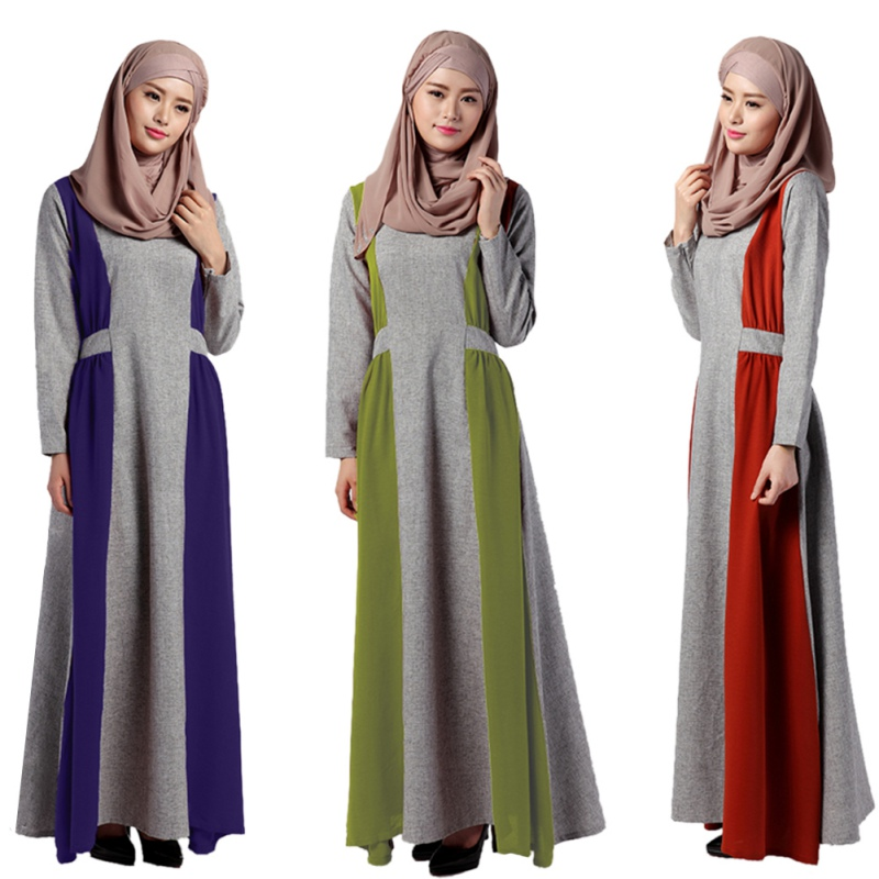 plus size muslim dress long sleeve abaya dubai turkish clothing for women vestidos in islamic clothing from novelty special use on aliexpress com