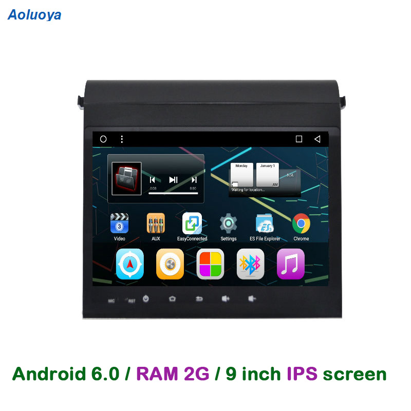 Aoluoya 2 gb RAM 32 gb ROM Android 6.0 Autoradio DVD GPS Lecteur Pour Toyota Alphard 2009-2014 voiture Stéréo audio navigation WIFI DAB +